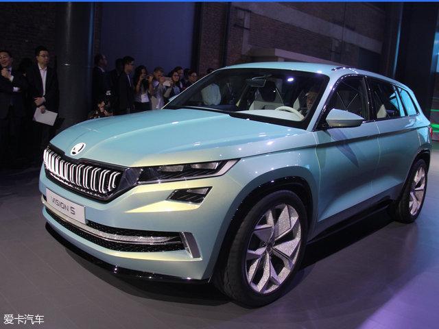 斯柯达VisionS概念车发布 六座中级SUV