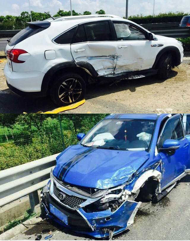 比亚迪唐;高速事故