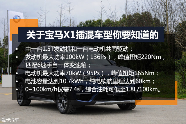 全新BMW X1 插电式混合动力;插电式混合动力